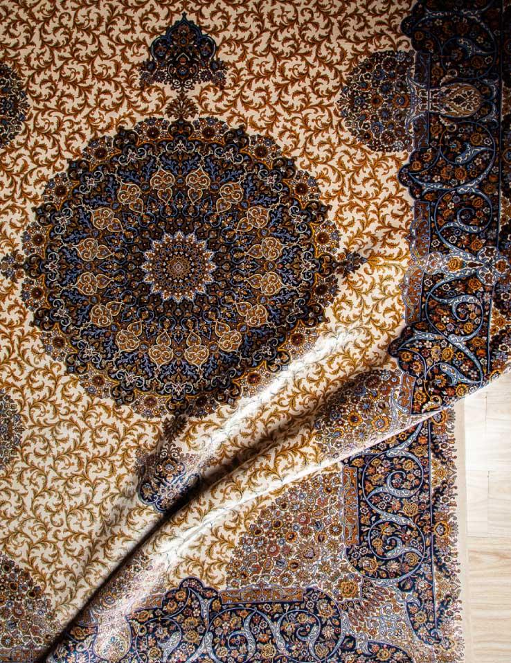 فرش شمسه | تولید شده با بهترین نخ در فرش اکسیر