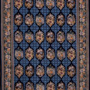 فرش ابریشم قم رنگ بنفش - کد 4013 | فرش اکسیر