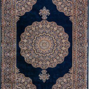 فرش ابریشم قم رنگ بنفش - کد 4019 | فرش اکسیر