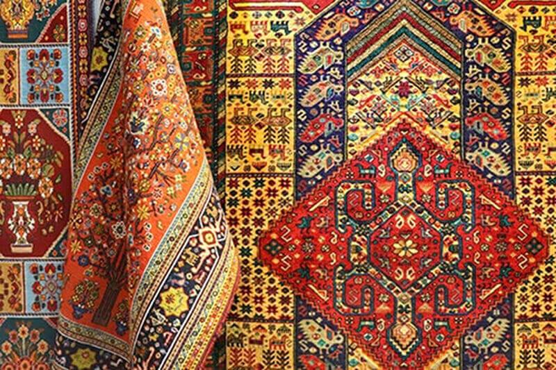به کار گیری رنگ های جذاب در بافت فرش | فرش اکسیر