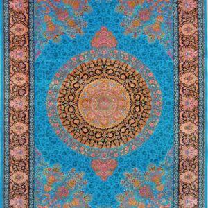 فرش ابریشم قم رنگ آبی - کد 4035 فرش ابریشم قم رنگ شرابی - کد 4031   فرش اکسیر
