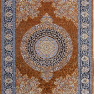 فرش ابریشم قم رنگ مسی - کد 4037 فرش ابریشم قم رنگ شرابی - کد 4031 | فرش اکسیر