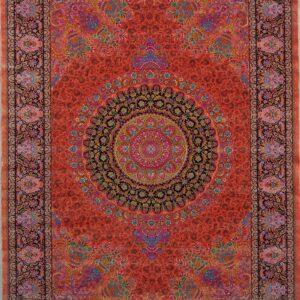 فرش ابریشم قم رنگ صورتی - کد 4041 | فرش ابریشم قم رنگ شرابی - کد 4031 | فرش اکسیر