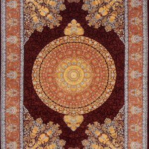 فرش ابریشم قم رنگ شرابی - کد 4044 فرش ابریشم قم رنگ شرابی - کد 4031 | فرش اکسیر