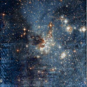 فرش ابریشم قم رنگ لاجوردی - کد 4063 | فرش اکسیر