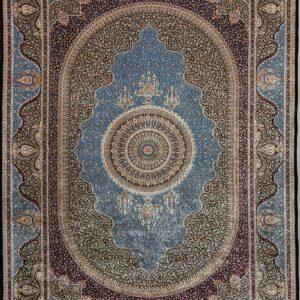 فرش ابریشم قم رنگ سبز - کد 4069 | فرش اکسیر