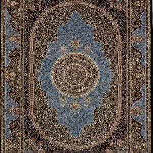 فرش ابریشم قم رنگ زیتونی - کد 4070 | فرش اکسیر