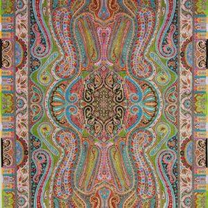 فرش ابریشم قم رنگ سبز - کد 4090   فرش اکسیر