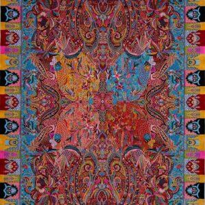 فرش ابریشم قم رنگ زرد - کد 4091   فرش اکسیر