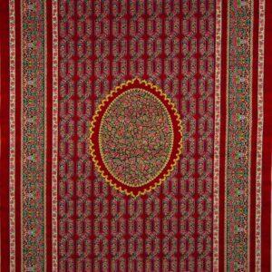 فرش ابریشم قم رنگ شرابی - کد 4107 | شرکت فرش اکسیر