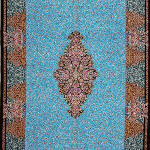 فرش ابریشم قم رنگ مشکی - کد 4117 | شرکت فرش اکسیر