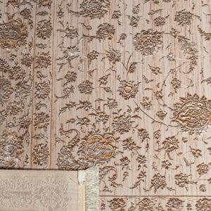فرش شمسه رنگ کرم کد 3012 | شرکت فرش اکسیر