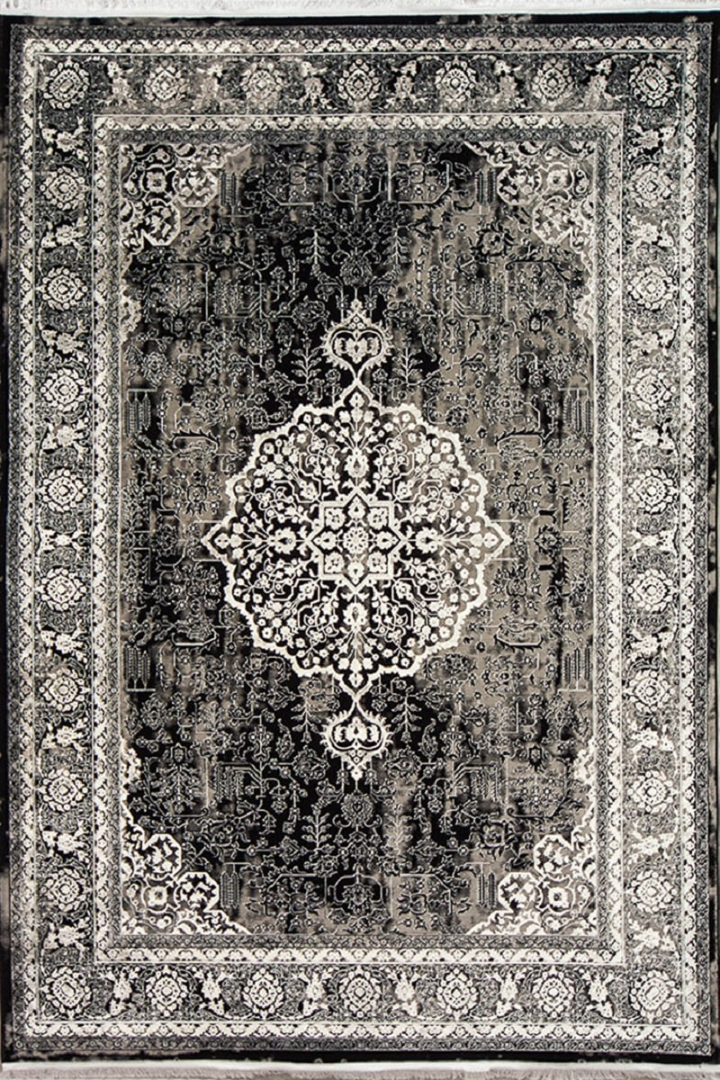 فرش مدرن رنگ سیاه، کد 2012 | فرش اکسیر