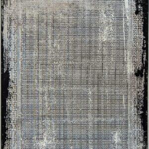 فرش مدرن رنگ نقره ای - کد 2018 | فرش اکسیر
