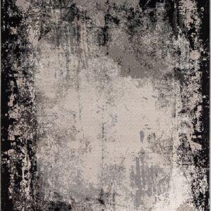 فرش مدرن رنگ مشکی - کد 2022 | فرش اکسیر
