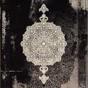 فرش مدرن رنگ مشکی - کد 2025 | فرش اکسیر