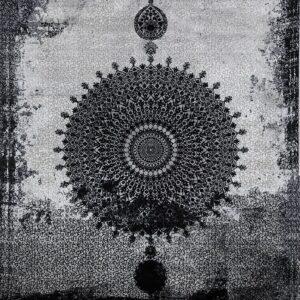 فرش مدرن رنگ طوسی - کد 2032 | شرکت فرش اکسیر