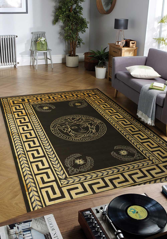 فرش طلایی در دکوراسیون | شرکت فرش اکسیر