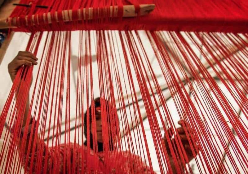 چله کشی قالی چیست؟ | شرکت فرش اکسیر